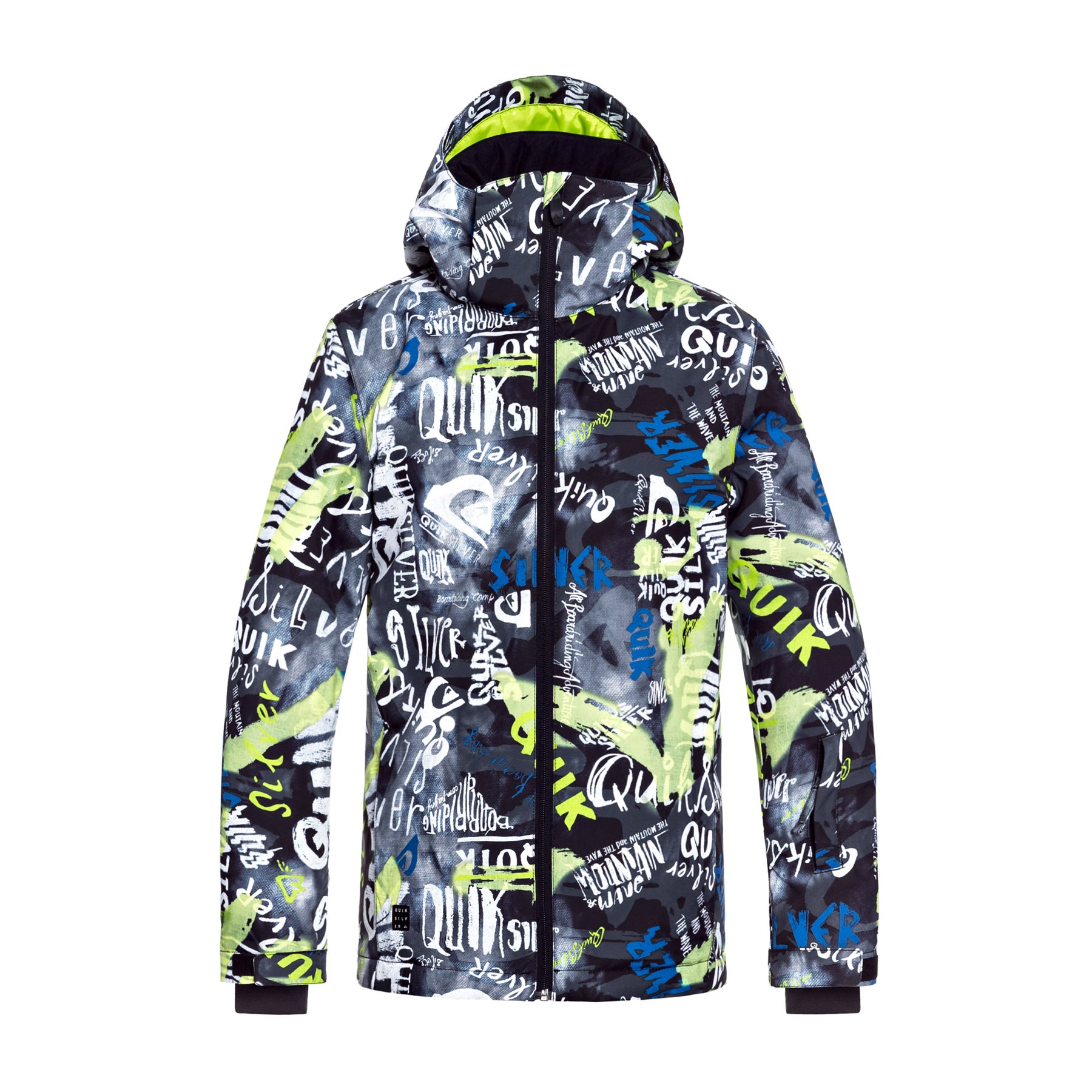 ef75cae7c Quiksilver Boys Mission Printed Kids Jacket Snowboard - Black ...