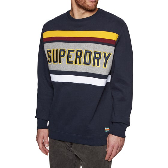 393df87d9a9 Sweat Superdry Applique Weekend Cut and Sew Crew - Highland Navy
