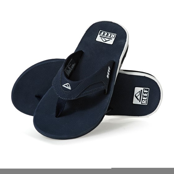 332ccb5ee57c0a Reef Fanning Sandalen - Navy White