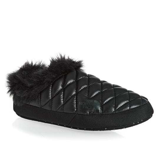 78be94d7439b North Face Thermoball Tent Mule Faux Fur IV Womens Slippers - Shiny TNF  Black