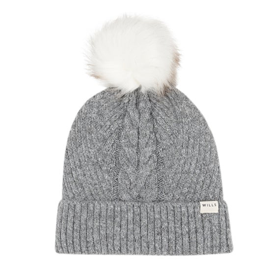 0cba7a2769f8f Gorro Senhora Jack Wills Dorchester Cable Hat - Grey Marl