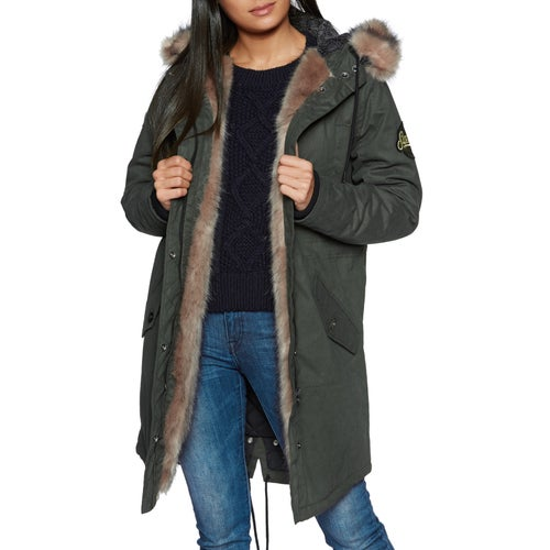 Superdry Frankie Faux Fur Lined Parka Womens Jacket available ... b6fd4e84f4