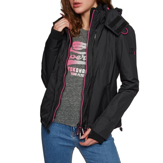 bb6f44c7878 Chaqueta Mujer Superdry Arctic Hooded Pop Zip Sd-windcheater -  Black raspberry
