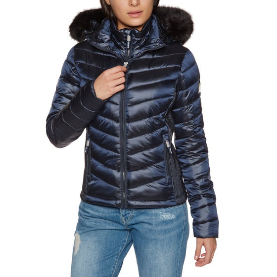 16e8dd249d3381 Superdry. Superdry Hooded Luxe Chevron Fuji Damen ...