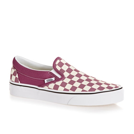 0b72167e9f7c47 Vans Authentic Classic Checkerboard Slip On Shoes - Dry Rose True White