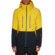North Face Anonym Snow Jacket - Leopard Yellow Urban Navy