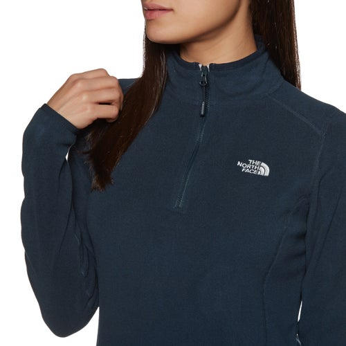 North Face 100 Glacier Quarter Zip Womens Fleece available from Surfdome ef9b09ad9