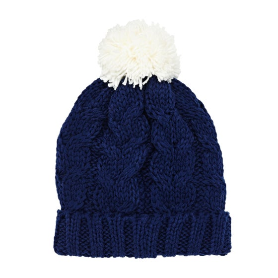 SWELL. SWELL Whistler Cable Pom Womens Beanie - Navy 02f2bd320ded