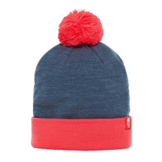 282a6279a899b Gorro Boys North Face Youth Ski Tuke - Blue Wing Teal Heather Atomic Pink