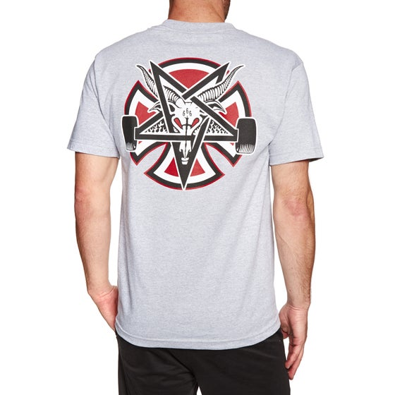 d691c134be Independent. Independent X Thrasher Collab Pentegram Cross Short Sleeve T- Shirt - Athletic Heather