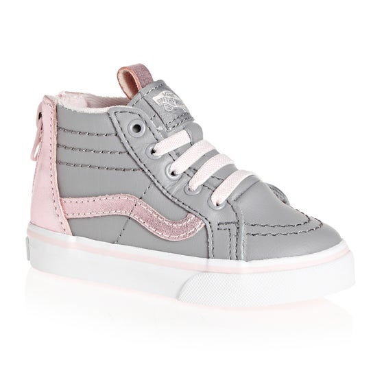 4d3835510f0 Vans. Vans Sk8 Hi Zip MTE Kids Toddler Shoes - Metallic Alloy Heavenly Pink
