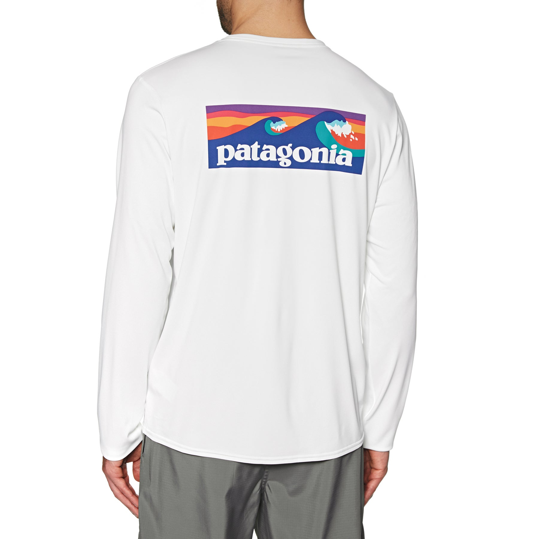 398ec269 Patagonia Cap Cool Daily Graphic Mens T-shirt Long Sleeve - White ...
