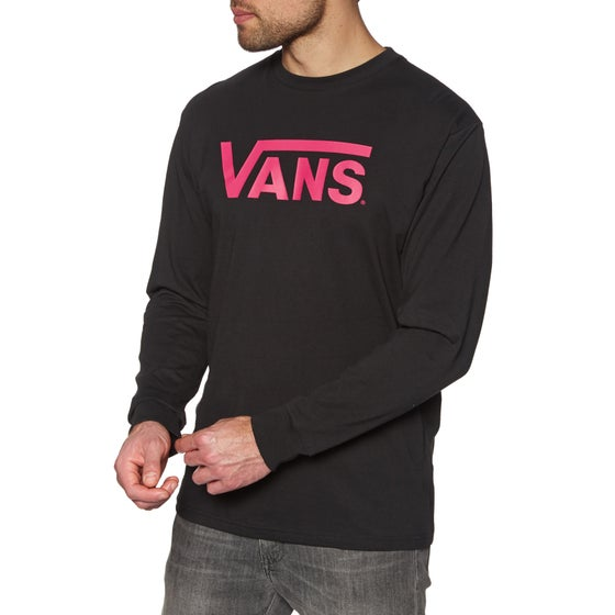 795658110b Vans Classic Long Sleeve T-Shirt - Black Jazzy
