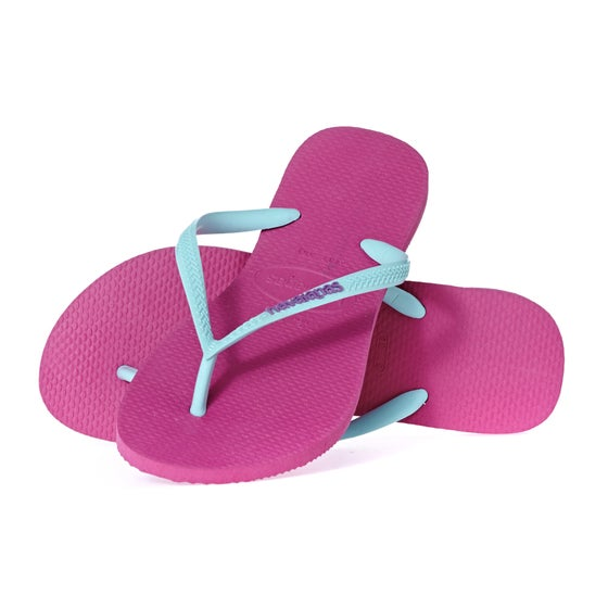 668089de13b221 Havaianas. Havaianas Slim Logo Womens Sandals - Hollywood Rose Ice Blue