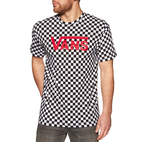 68241f10ec Vans. Vans Classic Short Sleeve T-Shirt - Black White Checkerboard