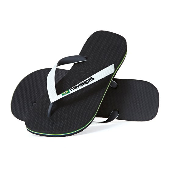 76a139a1070 Havaianas Brasil Mix Sandals - Black White