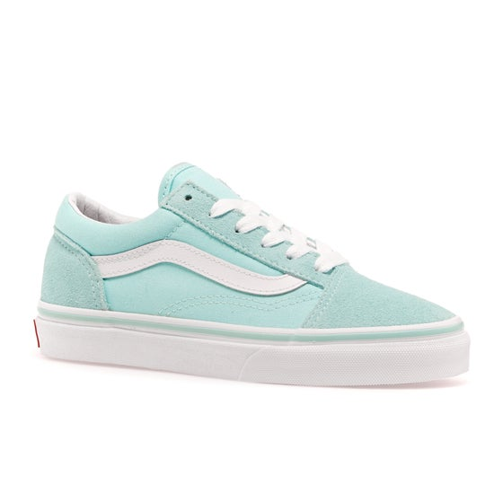 45bfdb55566 Vans. Vans Old Skool Kids Shoes - Blue Tint True White