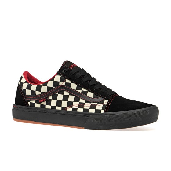 410798a0660861 Vans Old Skool Pro Shoes - Kevin Peraza Black Checkerboard