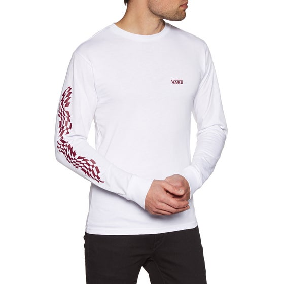 6ad9faaf62 Vans Warped Check Sleeve Long Sleeve T-Shirt - White