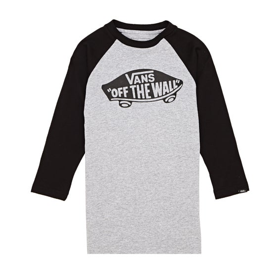 6a418ad5412 Vans OTW Raglan Boys Long Sleeve T-Shirt - Athletic Heather-black