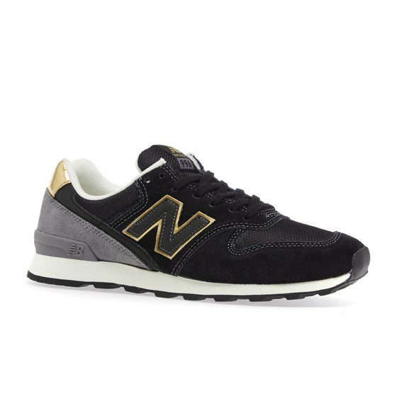 82fd48c4f5d Chaussures Femme New Balance Wr996 - Black Grey Gold
