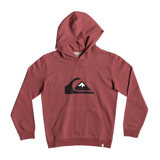 fe23f17b5d Quiksilver. Quiksilver Big Logo Boys Pullover Hoody - Brick Red Heather