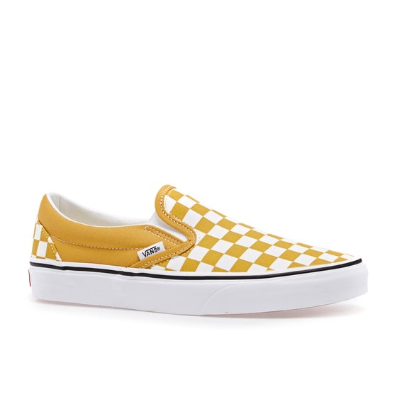 b96f5b1055 Vans Authentic Classic Checkerboard Slip On Shoes - Yolk Yellow True White