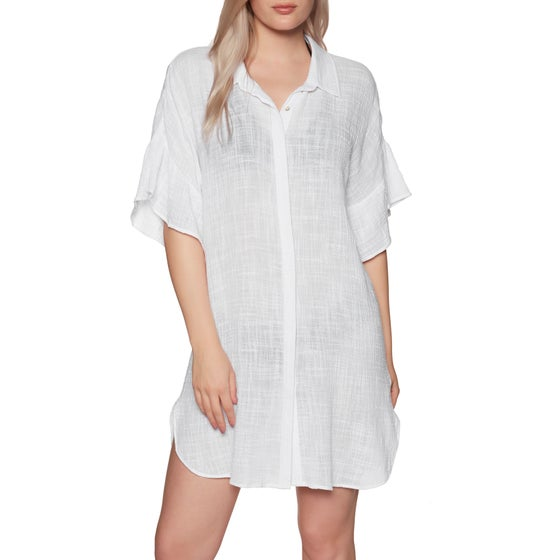 a1cd30b936ff Seafolly. Seafolly Ruffled Sleeve Beach Dress - White