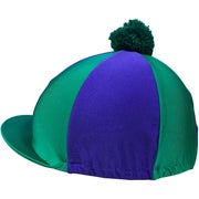 Racesafe Lycra Patterned with Pom Pom Hat Cover
