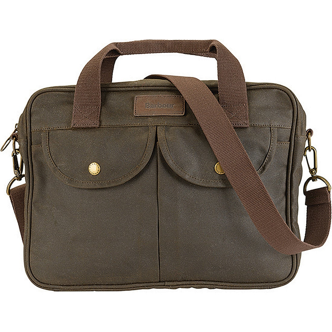 Barbour Wax Longthorpe Laptop Torba listonoszka