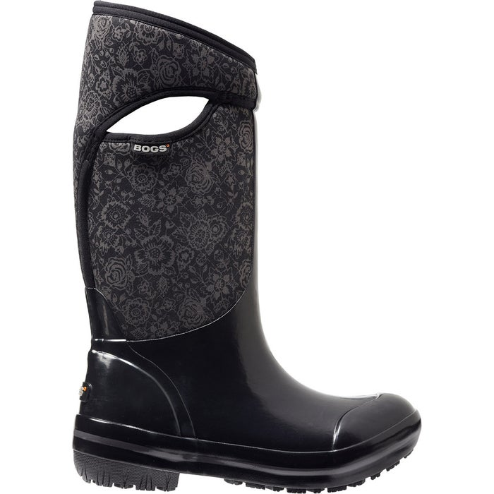 Bogs Plimsoll Quilted Floral Tall Ladies Wellingtons