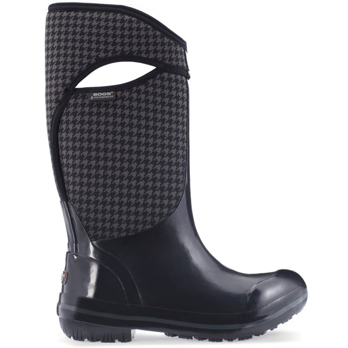 Bogs Plimsoll Houndstooth Tall Ladies Wellingtons