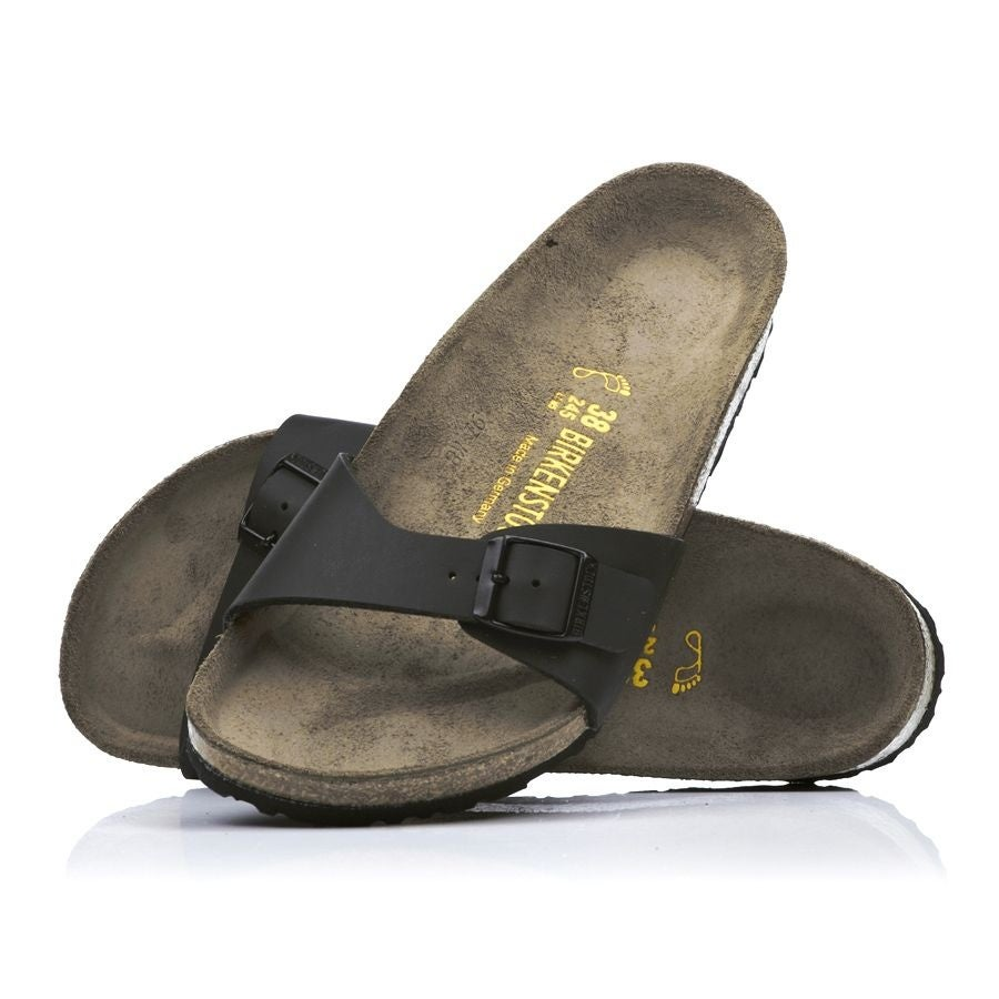 Birkenstock Madrid Birko Flor Womens Sandals - Black 91