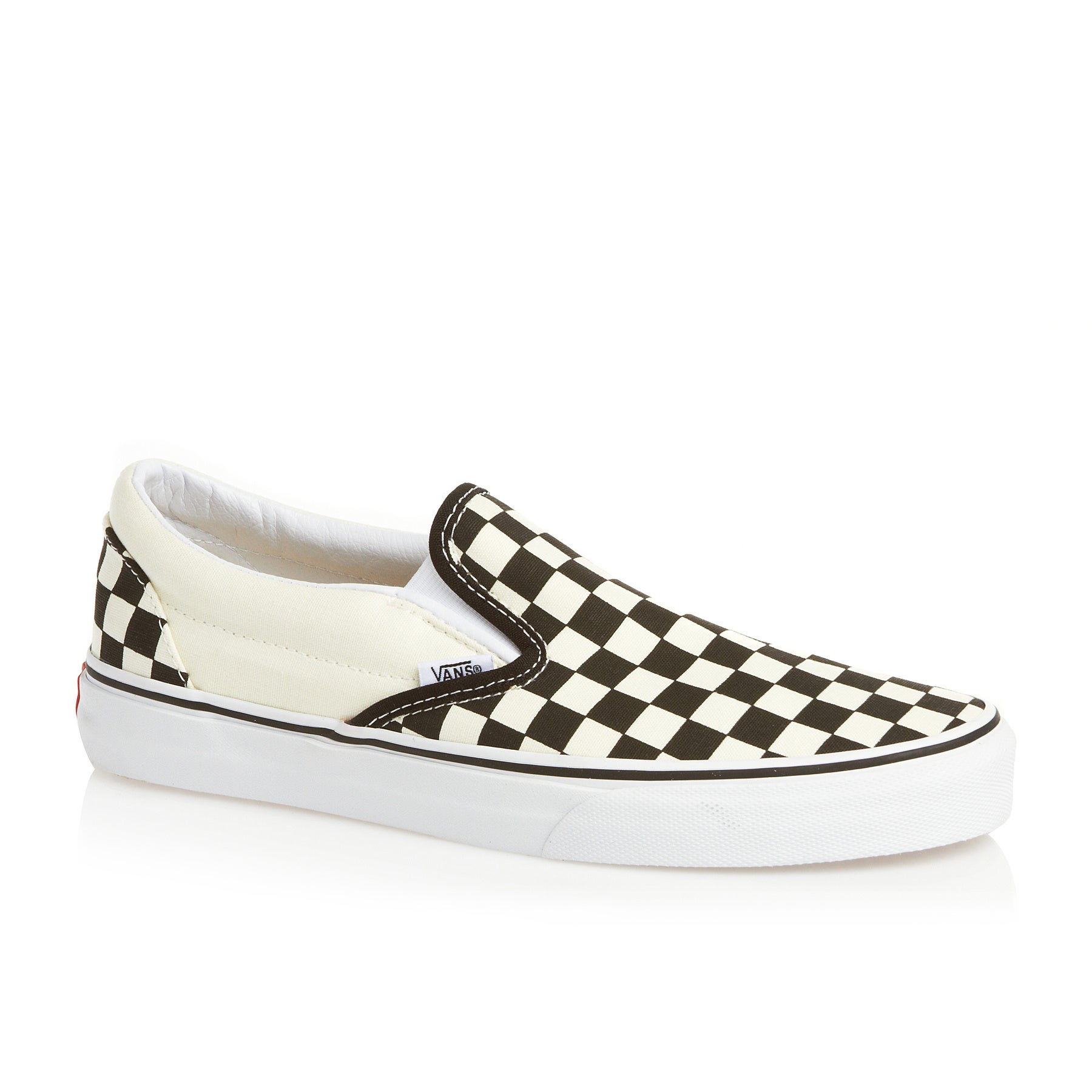 Vans Classic Slip On Shoes - White Black Checkerboard