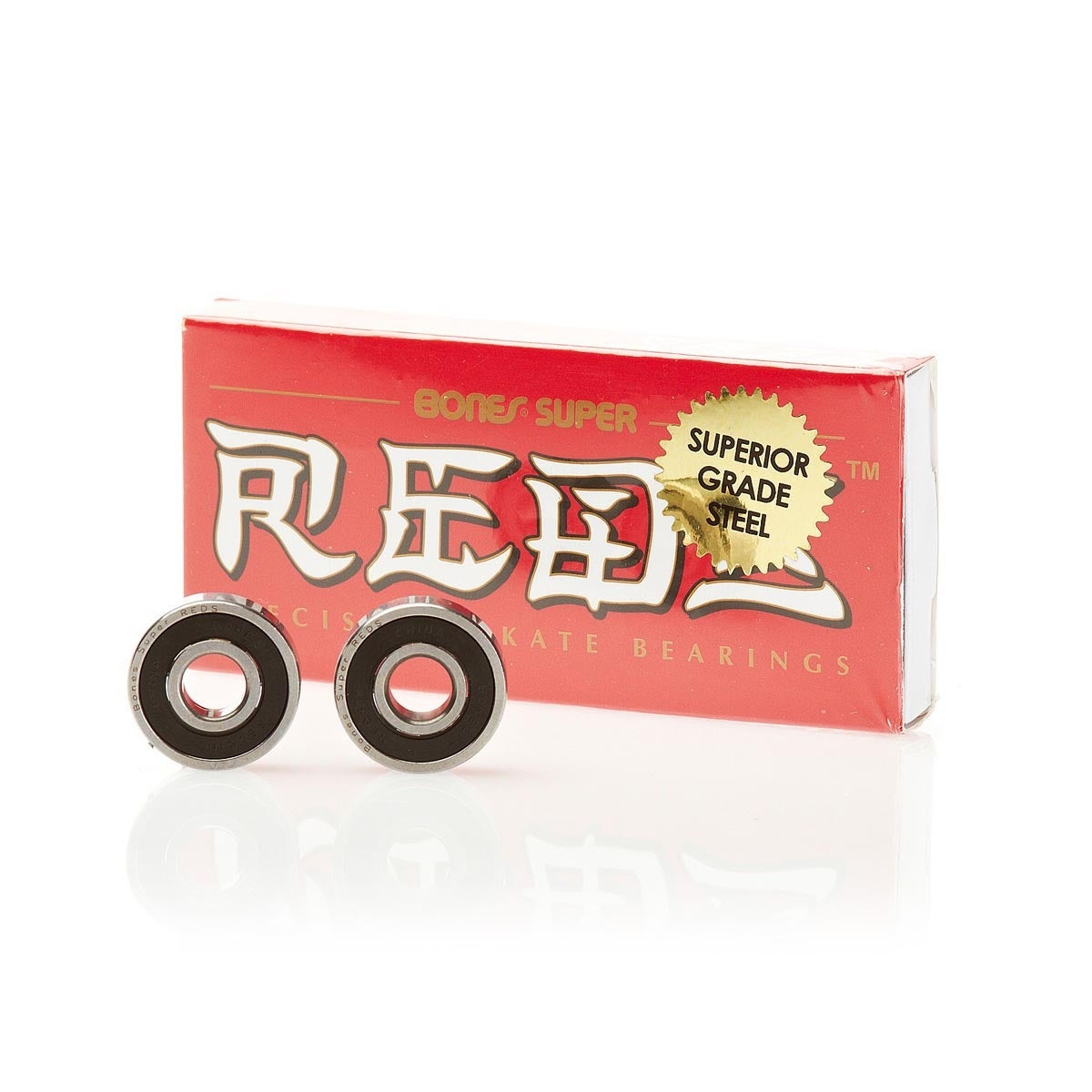 Bones Swiss Super Reds Skateboard Bearings - Black