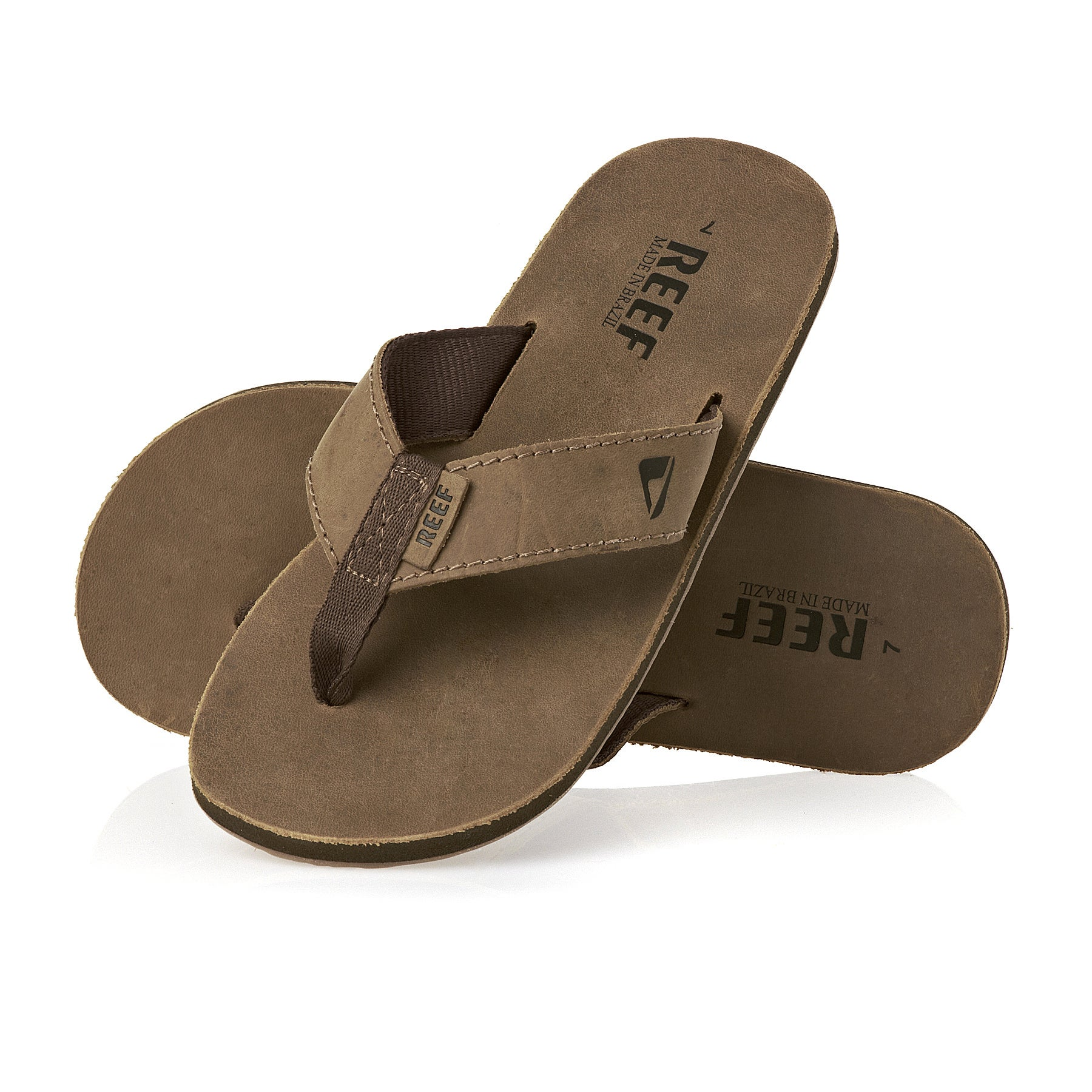 Sandalias Reef Leather Smoothy - Bronze Brown