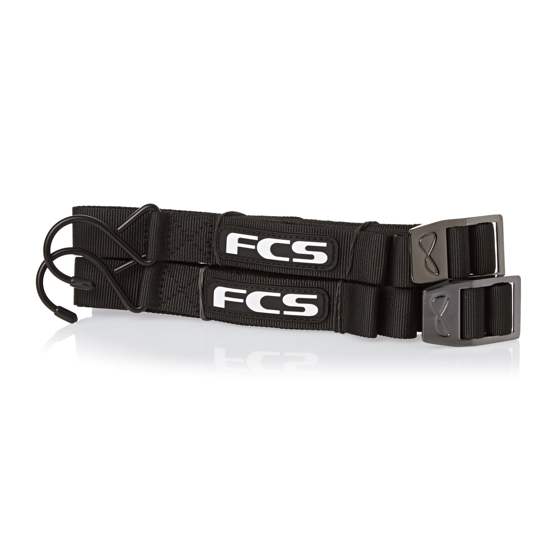 FCS Premium Bungy Lock Tie Downs - Black