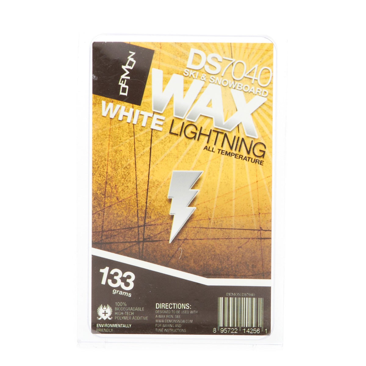 Snowboard Wax Demon White Lightning Team Wax Universal (133gm) - White