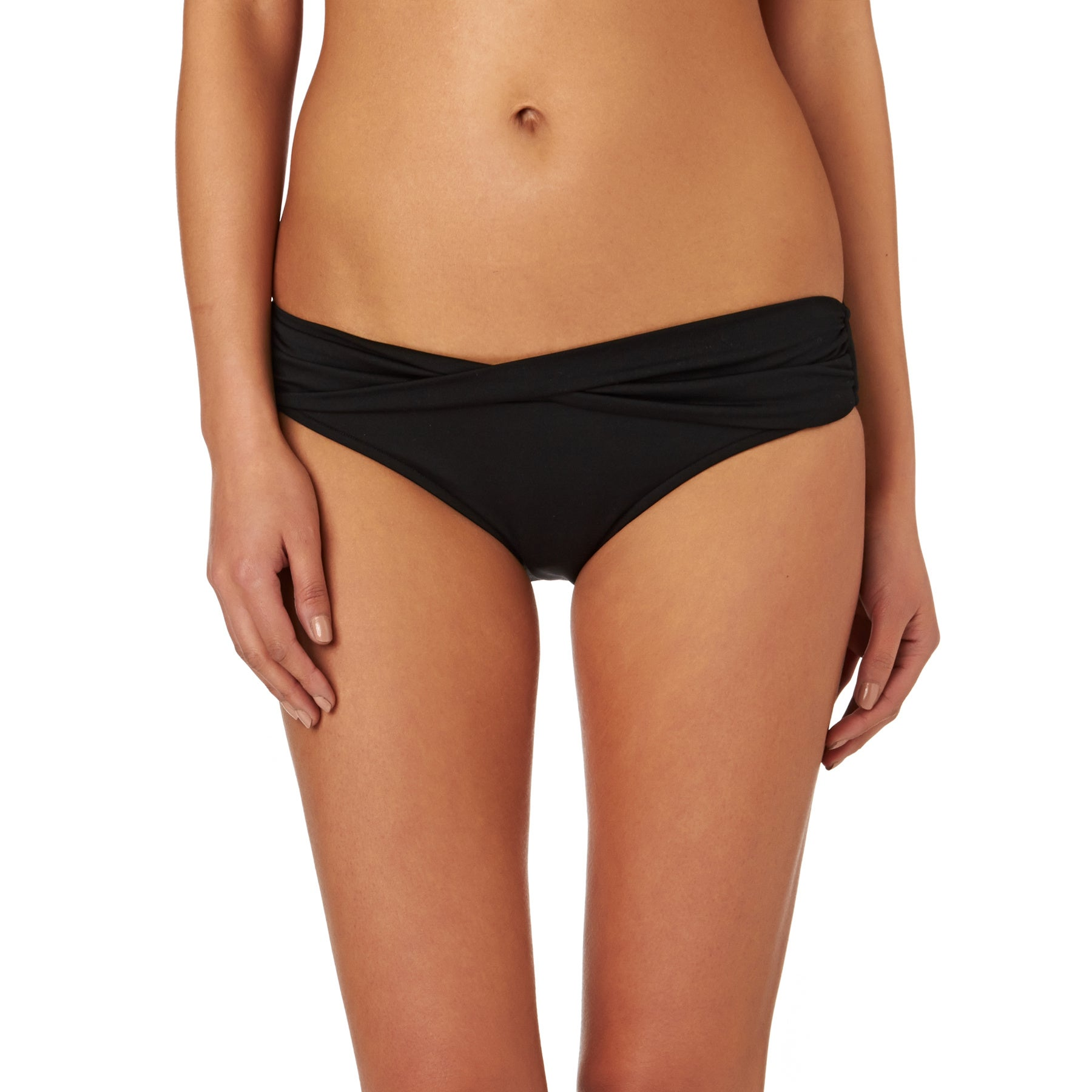 Seafolly Twist Band Mini Hipster Womens Bikini Bottoms - Black