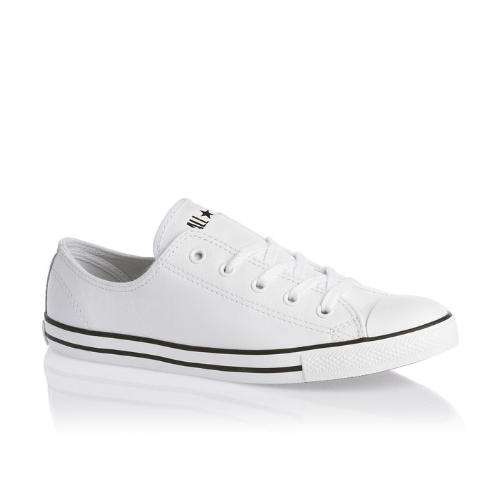 1128f8780905 Converse Chuck Taylor All Stars Dainty Leather Womens Shoes ...
