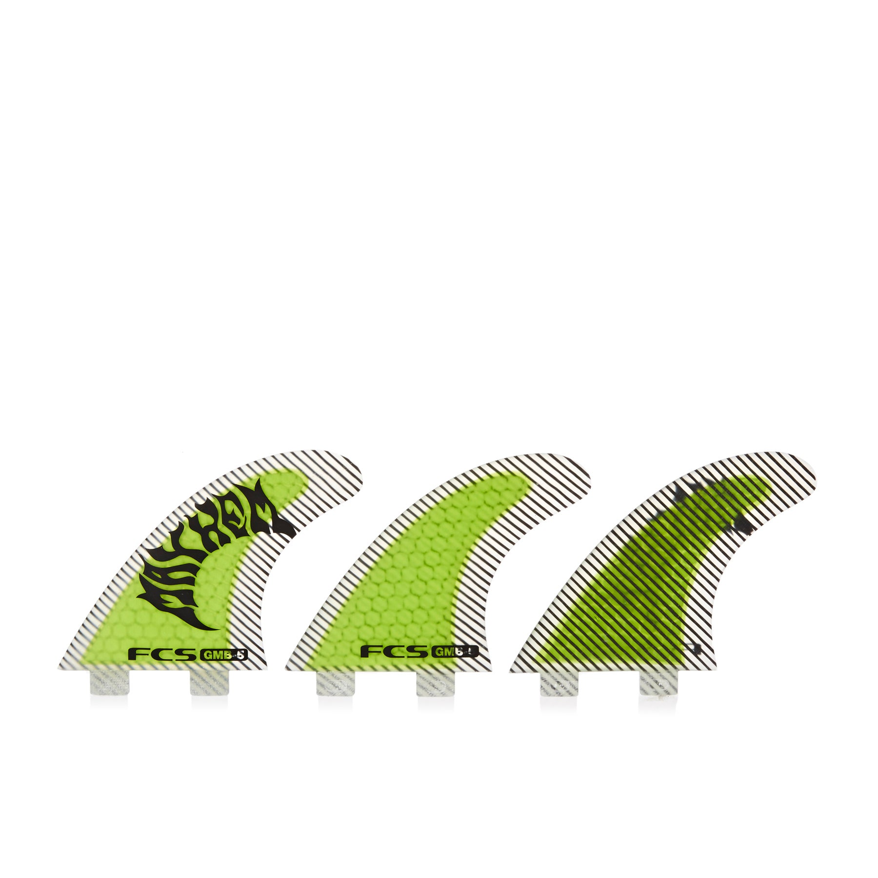 FCS GMB Performance Core Set Of Five Fin - Yellow