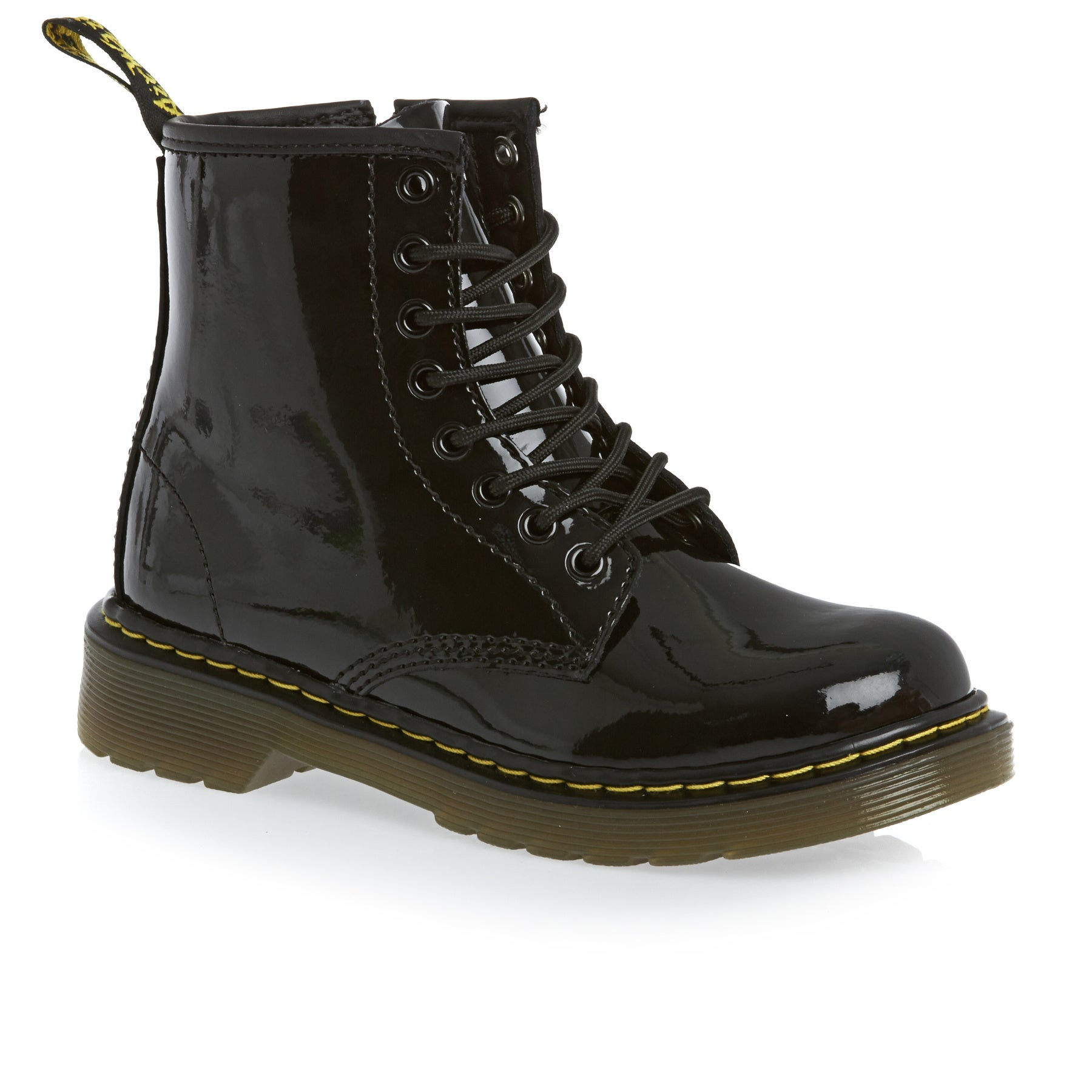Dr Martens Junior Delaney Girls Boots - Black Patent