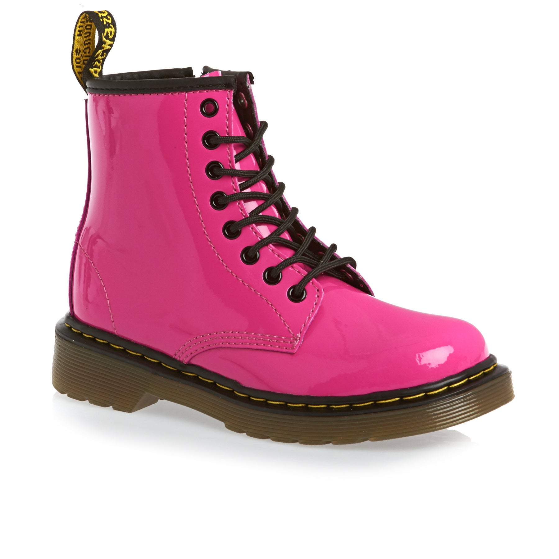 Bottes Dr Martens Junior Delaney - Hot Pink Patent