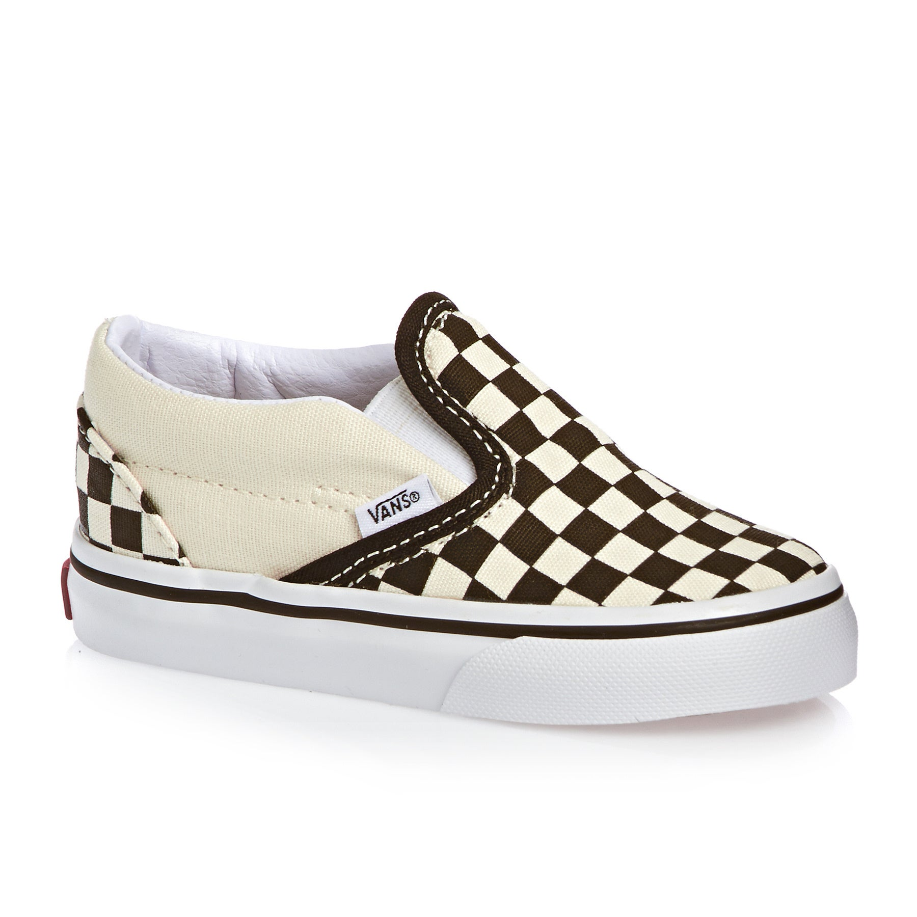 Vans Classic Slip On Kids Toddler Shoes - Black White Checker White