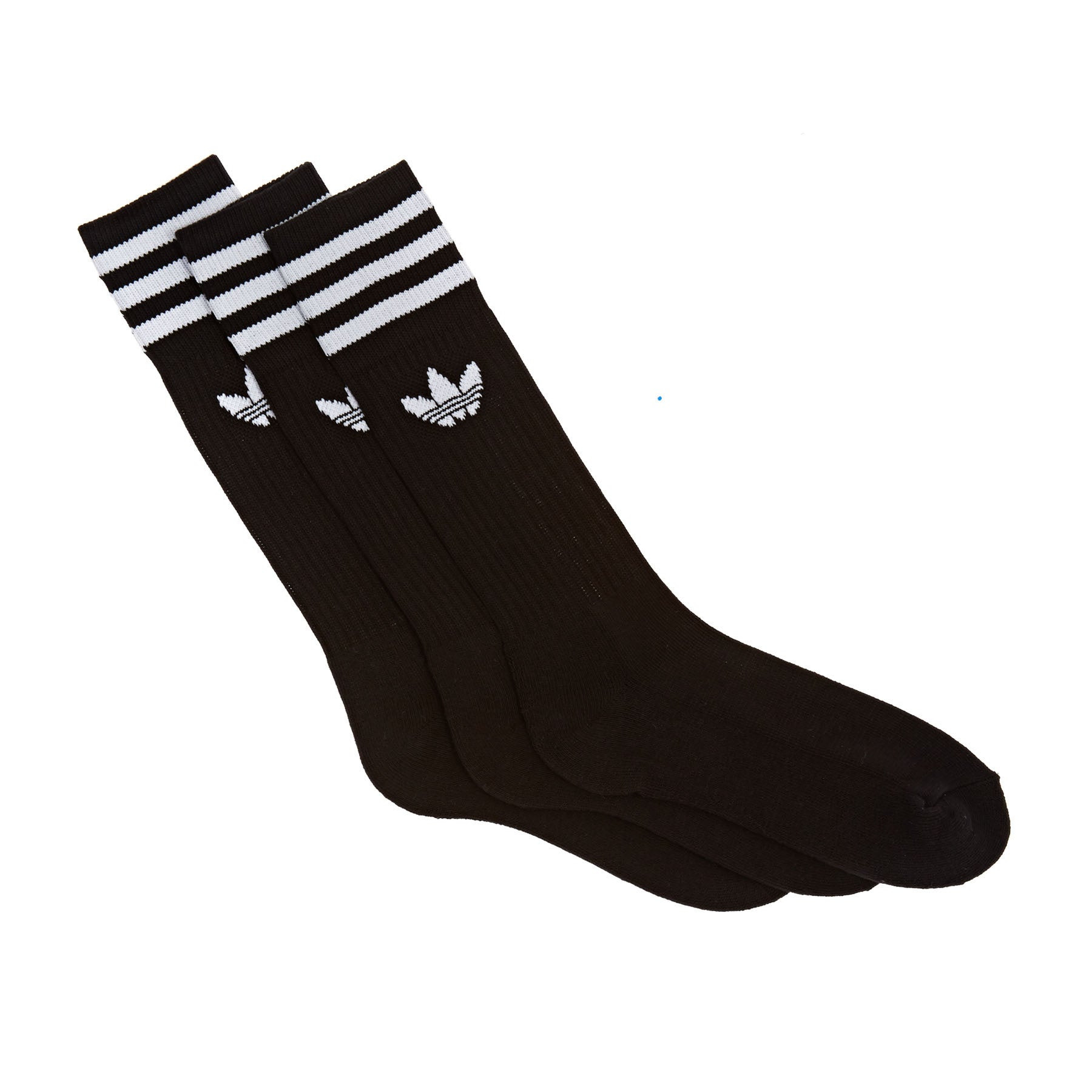 Calcetines Adidas Originals Solid Crew - Black White