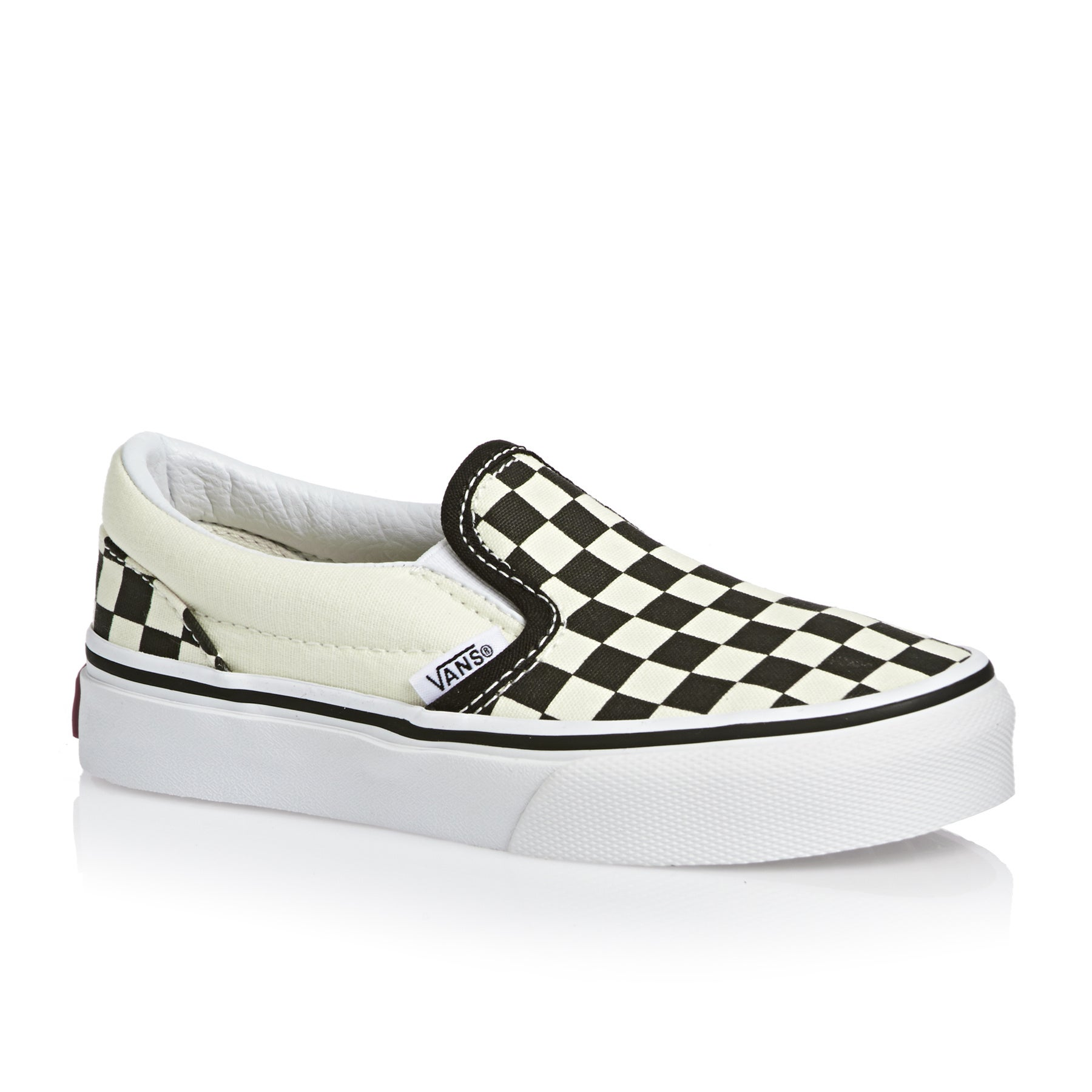 Vans Classic Slip On Kids Shoes - Checkerboard Black White