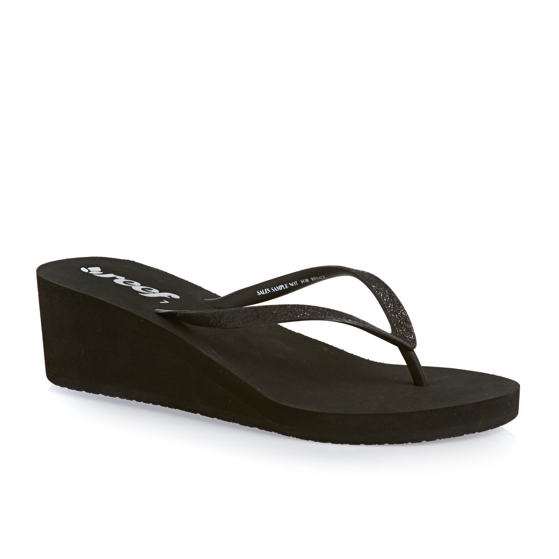 Reef Krystal Star Wedge Womens Sandals - Black/black