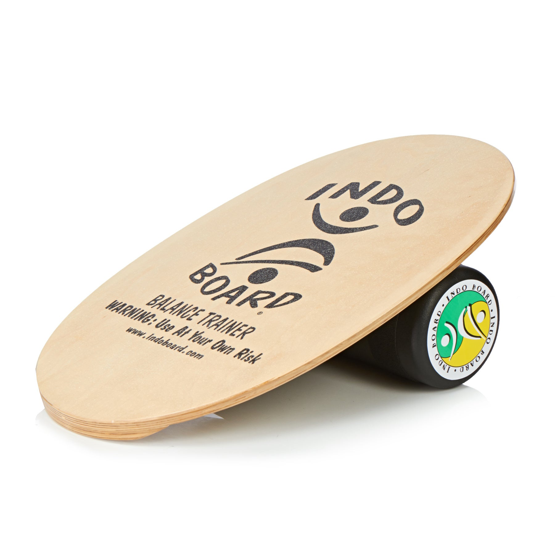Balance Board Indo Boards Original Graphics Deck and Roller - Natural