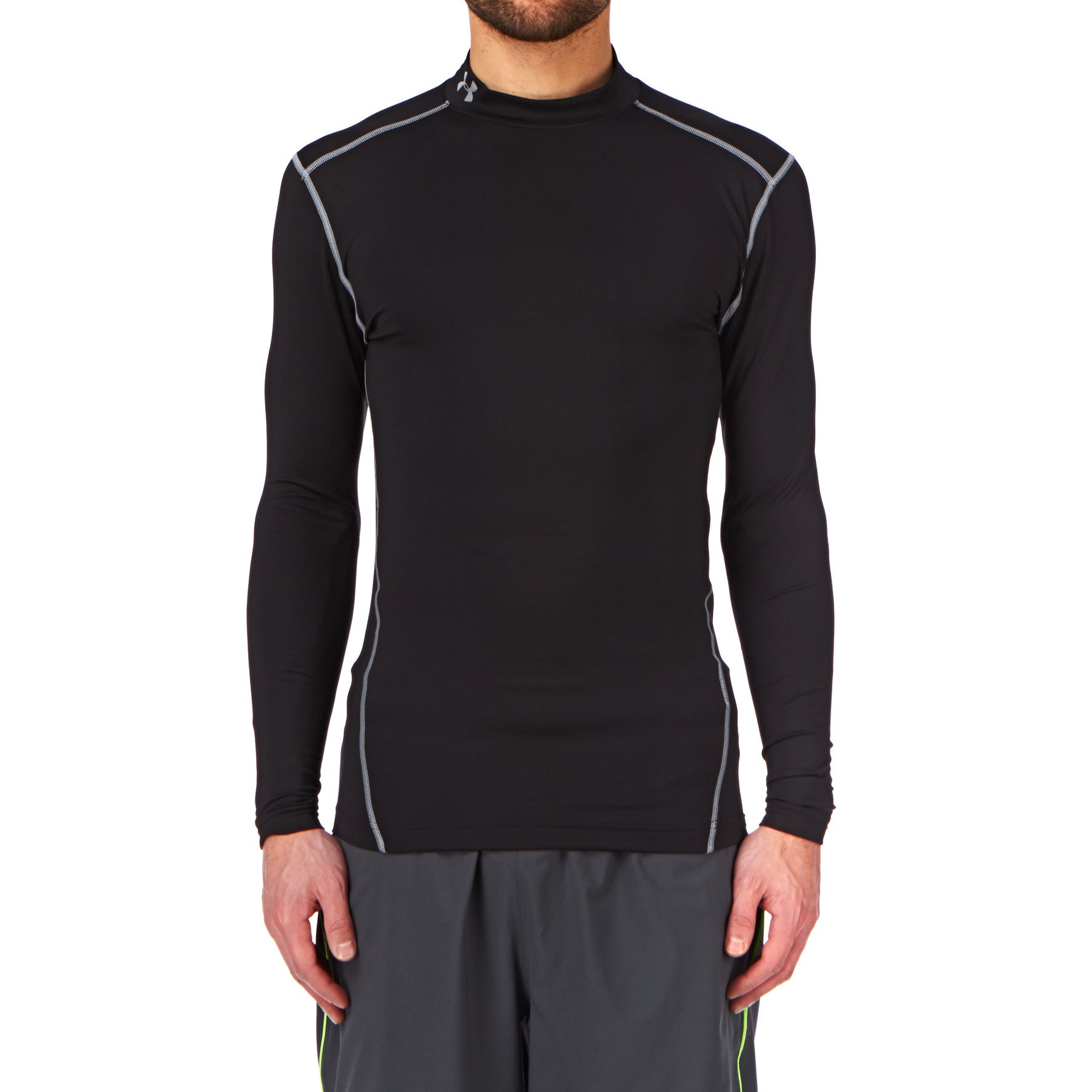 Under Armour Cold Gear Mock LS Base Layer Top - Black/ Steel