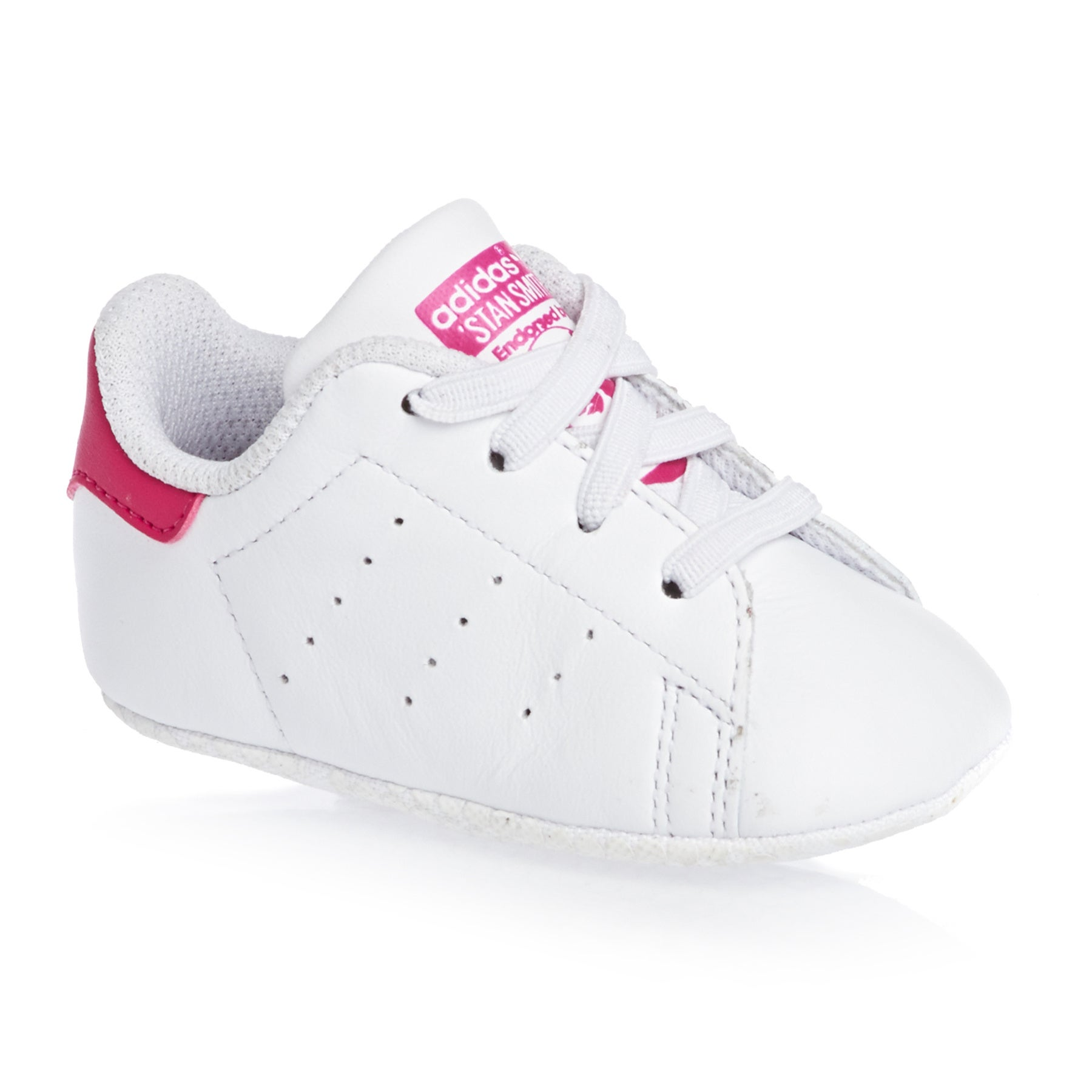 Adidas Originals Stan Smith Crib Shoes - White Pink